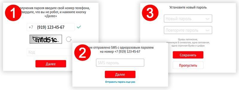 Личный кабинет МТС Телефония и интернет